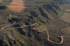 Helicopter flight_volcano road